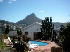 Property Photo: Pool  with Lions Head mountain