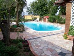 The Pool of Cottage by Lake Bracciano