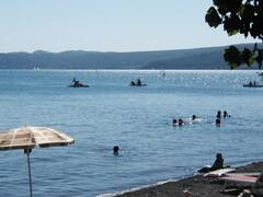 Beaches by the lake Bracciano
