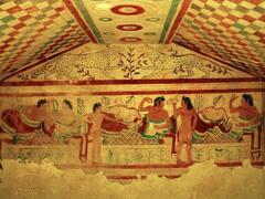 Etruscan frescoes in Tarquinia