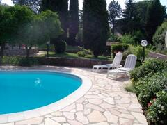 the pool and the garden
