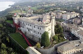 the majestic castle in Bracciano