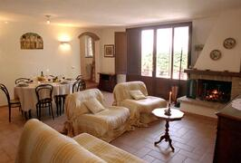 Property Photo: The Charming Villa Nuba apartments, delPerugino apartment - The living room - Umbria apartment rental