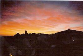 Sunrise over Oliva Town