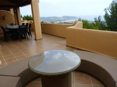 Property Photo: Top terrace and view of Moraira
