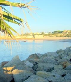 Property Photo: View of beach