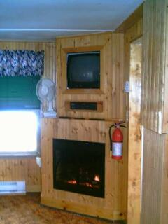 Electric Fireplace TV and VCR