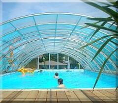 pool heated april until end of october, winter free bathworld