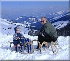 winter holidays and skying