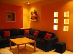 Property Photo: living room by night