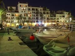 The harbour at night
