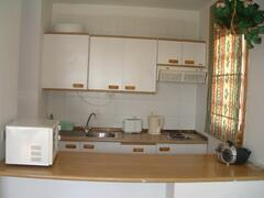 kitchen with all you need to make a light meal
