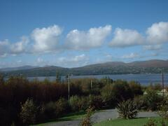 View from the lounge looking over Kenmare Bay and Mountains