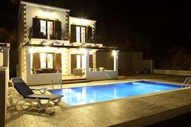 Property Photo: Villa Neos at night