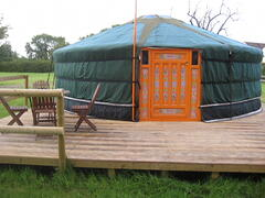 21ft yurt with deck