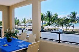 Entertainer balcony (with private BBQ) overlooking the ocean & beach