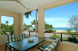 Property Photo: Stunning ocean views from the entertainer balcony (with private BBQ)